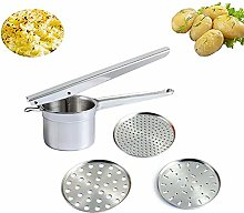 Ouken 1set Potato Ricer Stainless Steel With 3