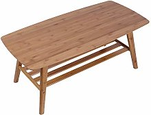 Oumefar Desk, stable Bamboo Table, Double Layer