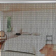 Oumefar easy to clean Chain Curtains, Metal
