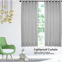 Oumefar elegant color durable Curtain 2pcs/ Set