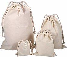 Oumefar Household Plain Organic Cotton Storage Bag
