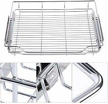 Oumefar Kitchen Pull-out Basket Sturdy Sliver 100%