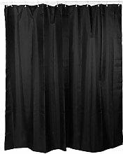 Oumefar Shower Curtain Black Waterproof Shower