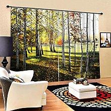 Oumefar soft Modern lustrous polyester Curtains