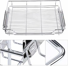 Oumefar Sturdy Pull-out Basket Household for Dish