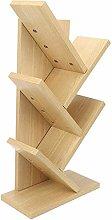 Oumefar Tree Desk Bookcase, Multi-Layer Wooden
