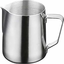 OUNONA 1000ml Stainless Steel Frothing Pitcher