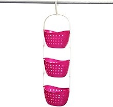 OUNONA 3 Tier Hanging Shower Caddy Basket Shelf