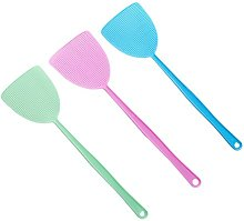 OUNONA 3pcs Plastic Fly Swatter Manual Swat