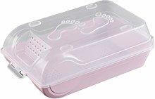 OUNONA Plastic Shoe Storage Boxes Clear Anti-dust