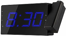 OurLeeme LED Display Projection Clock Radio Alarm