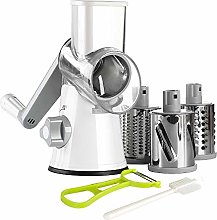 Ourokhome Rotary Cheese Grater Shredder - 3 Drum