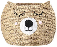 Ourson Basket - / Water hyacinth by Bloomingville
