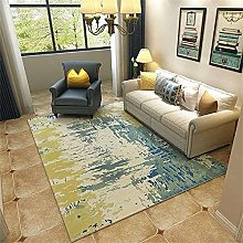 Out Door Rug Abstract Rug Yellow Green Skit Design