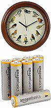 Out of the Blue Plastic Wall Clock with Birds