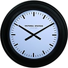 Out of the blue Wall Clock, Black, 58 x 58 x 5 cm