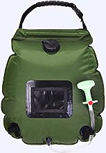 Outdoor 20L solar shower bag camping bath portable
