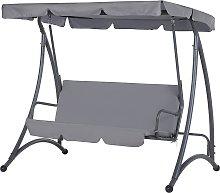 Outdoor 3 Seater Swing Dark Grey TEMPLE