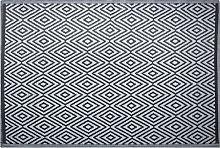 Outdoor Area Rug 150 x 200 cm Black SIKAR