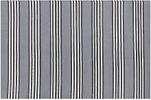 Outdoor Area Rug 160 x 230 cm Grey Striped Pattern