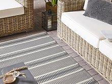 Outdoor Area Rug Grey Recycled Polypropylene 160 x