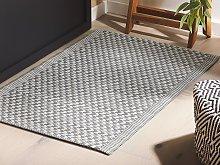 Outdoor Area Rug Grey Synthetic Materials