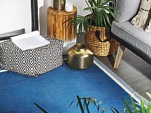 Outdoor Area Rug Mat Blue Synthetic 120x180