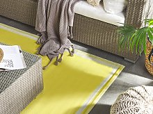 Outdoor Area Rug Mat Yellow Synthetic 120x180