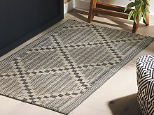 Outdoor Area Rug Taupe 60 x 105 cm Jacquard Woven
