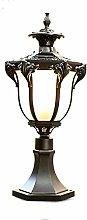 Outdoor Ausalumium and Glass Wet Lamp Black Rustic