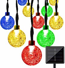 Outdoor Ball String Lights, 12M 100LED Bubble
