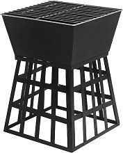 Outdoor Barbecue Grill Cast Iron Charcoal Fire Pit