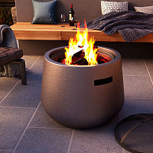 Outdoor BBQ Fire Pit Bowl Garden Firepit Grill