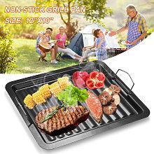 Outdoor BBQ Grill Non-stick Pan Aluminum Portable