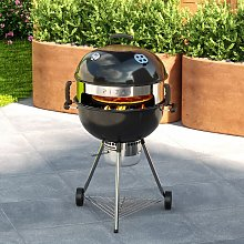 Outdoor Camping 2-In-1 Kettle BBQ Grill Charcoal