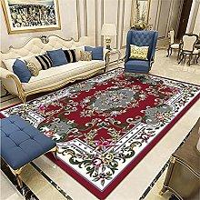 outdoor carpets Salon rug dark red vintage floral