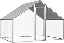 Outdoor Chicken Cage 2.75x2x1.92 m Galvanised