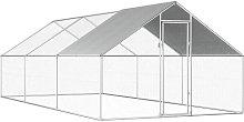 Outdoor Chicken Cage 2.75x6x1.92 m Galvanised