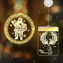 Outdoor Christmas Lights for Windows, Hanging 3D