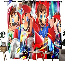 Outdoor Curtains Super Mario Posters Blackout
