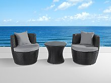 Outdoor Cushion Covers for Garden Set Light Grey Water Resistant Minimalistic