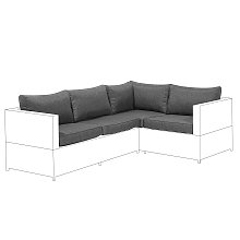 Outdoor Cushion Covers Set for Sofa Seat and