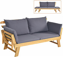 Outdoor Daybed Patio Convertible Couch Sofa Bed