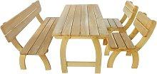 Outdoor Dining Set 4 Pieces Impregnated Pinewood -