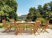 Outdoor Dining Set Light Acacia Wood 8 Seater