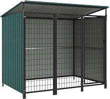 Outdoor Dog Kennel 193x133x164 cm - Green