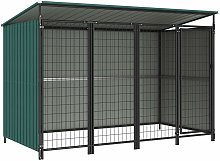 Outdoor Dog Kennel 253x133x164 cm - Green