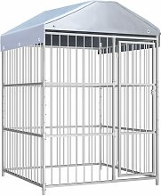Outdoor Dog Kennel with Roof 150x150x200 cm -