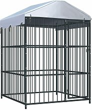 Outdoor Dog Kennel with Roof 150x150x210 cm -