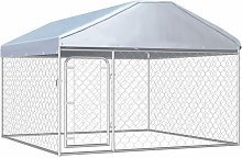 Outdoor Dog Kennel with Roof 200x200x135 cm -